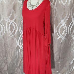 2Xlarge Oakley/Midi Red Dress By Agnes & Dora